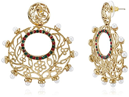 Sia Sia Art Jewellery Gold Plated Hoop Earrings For Women (Golden) (AZ1961) (Yellow)