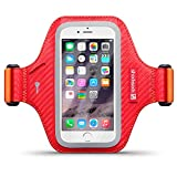 iPhone 6 Case, Shocksock [Reflective] iPhone 6 Armband, Sports Gym Bike Cycle Jogging Armband with Dual Arm-Size Slots and Key Pocket Custom Made for iPhone 6 (4.7