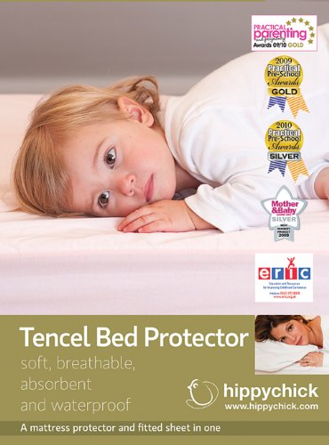 Hippychick Tencel Fitted Mattress Protector Cot-Bed 70x140cm
