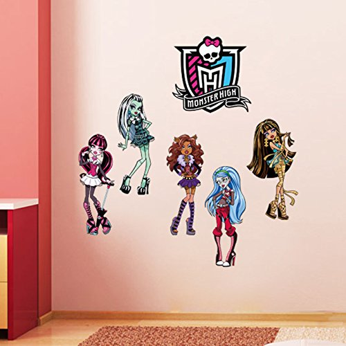 Monster High Cartoon Wall Sticker Mural Vinyl Decal Kids Room Decor Removable