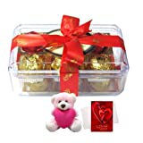 Valentine Chocholik Premium Gifts - Best Combination Of Yummy Chocolates With Teddy And Love Card