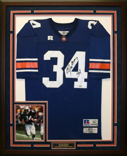 Bo Jackson Autographed & Framed Auburn Jersey at Amazon.com