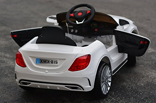 ride on toys 2016 elite white power wheels mercedes benz kids led mp3 sport cars ebay. Black Bedroom Furniture Sets. Home Design Ideas