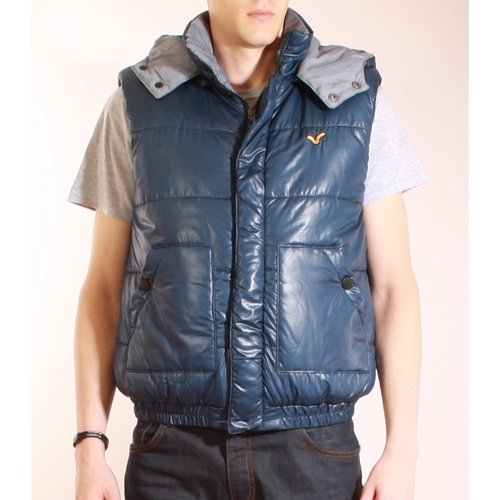Voi Jeans Cowell Reversible Gilet Chambray Navy - M (40in)