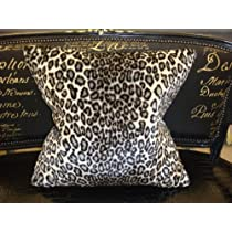 Snow Leopard Throw Pillow....Color Black & White 24 X 24