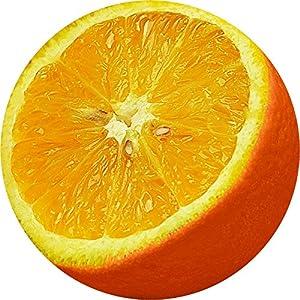 Fellowes - 5880803 - Brite Mat Rond - Tapis de souris en plastique rigide - Orange
