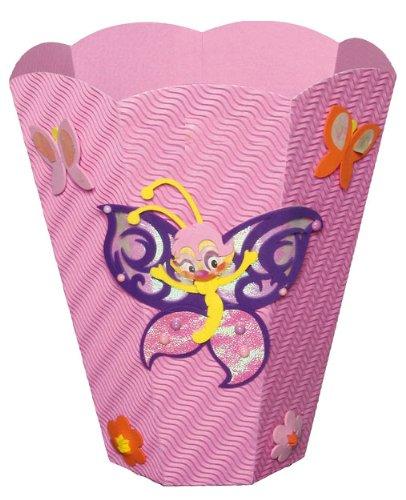 Bastelset Papierkorb – Schmetterling Mülleimer rosa Mädchen bestellen