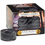 Yankee Candle 12 Pack Tea Lights Black Coconut
