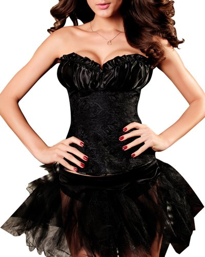 Burlesque-Boutique Women's Broquade Style Corset