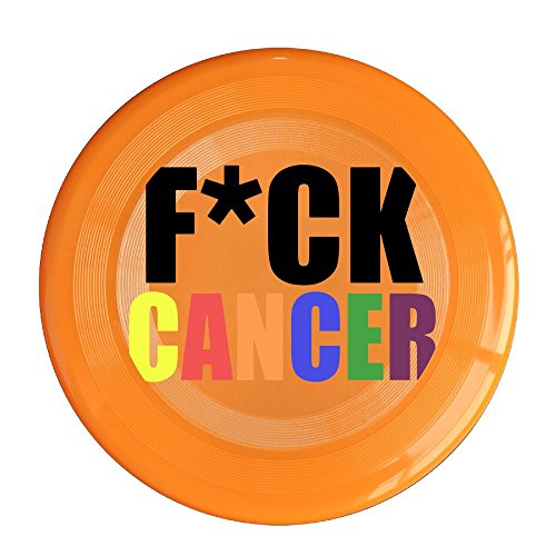 YQUE56 Unisex Fuck Cancer Rainbow Outdoor Game, Sport, Flying Discs,Game Room, Light Up Flying, Sport Disc ,Flyer Frisbee,Ultra Star Orange One Size