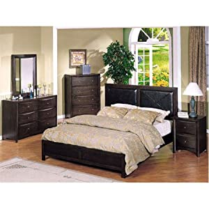 California King Leather Bed Bedroom