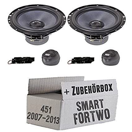Smart ForTwo 451 Front - Gladen ALPHA 165 - 16cm Kompo-System Lautsprecher - Einbauset