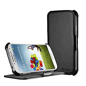 EasyAcc Samsung galaxy s4 Case coque de protection avec stand - Etui rabat Housse Cuir Portefeuille accessories pouch pour Samsung Galaxy IV i9500 (Ultra Slim PU Cuir, noire)