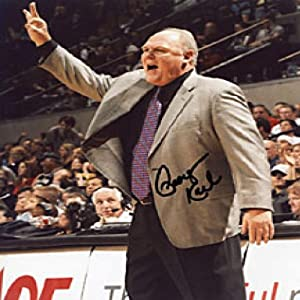 George Karl Autographed Signed Denver Nuggets Basketball 8x10 Photo by Hollywood+Collectibles