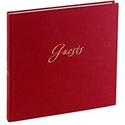 Eternity Guestbook unlined bordeaux Guests +++ 120 sheets hand made paper +++ GUESTBOOK for \'\'eternal\