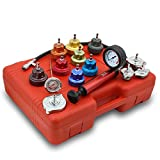 Universal Radiator Pressure Tester and Vacuum Type Cooling System Kit (Color: yellow)