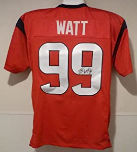 JJ Watt Autographed red size XL jersey Houston Texans w JSA by DenverAutographs