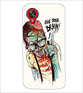 PrintDhaba Man with Quote D-1035 Back Case Cover for LG GOOGLE NEXUS 5 (Multi-Coloured)