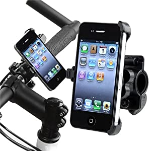 eForCity Bicycle Phone Holder compatible with Apple® iPhone® 4 AT&T / Verizon, Black