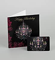 Happy Birthday Chandelier Gift Card