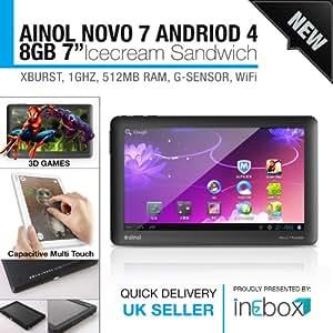 Ainol Novo 7 Paladin Tablet Android 4.0 Weiß Kapazitives Display,Deutsche Bedienungsanleitung