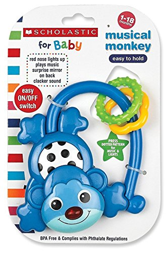 Scholastic Musical Monkey, Blue - 1