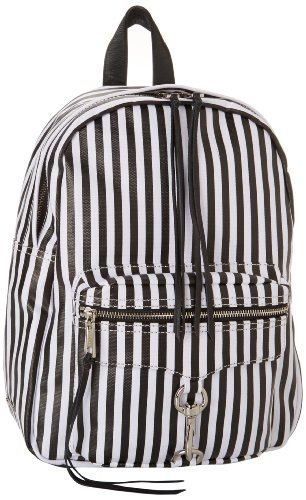 Rebecca Minkoff MAB Backpack,Black/White Stripe,One Size