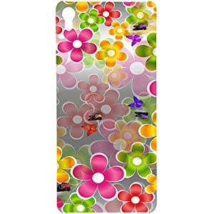 Casotec Butterflies Design 3D Printed Hard Back Case Cover for Sony Xperia XA