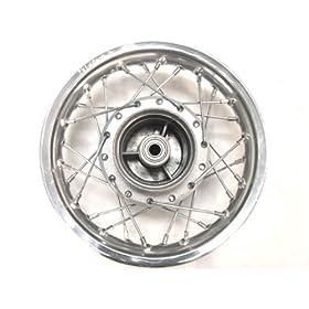 TMS 10 inch Aluminum Silver Chrome Rear Rim Wheel Drum Honda XR50 CRF50 Fit Stock Pit Bike