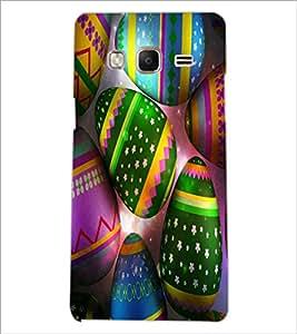 PrintDhaba Coloured Eggs D-3866 Back Case Cover for SAMSUNG Z3 (Multi-Coloured)