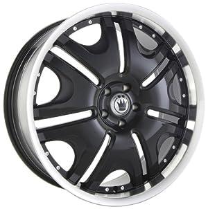 22×10 Konig Blix-1 (Black w/ Machined Lip) Wheels/Rims 5×112 (B102512405)