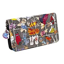 Sydney Love Diva Dogs Zip Around Wallet,Multi,One Size
