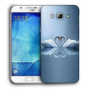 Snoogg White Swans Designer Protective Back Case Cover For SAMSUNG GALAXY A8