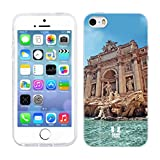 Head Case Designs Trevi Fountain Rome Italy A Glimpse of Rome Gel Back Case Cover for Apple iPhone 5 5s