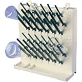 Bel-Art Products F18933-0011 Lab-Aire II Drying Rack, Benchtop or Wall Mount, Single-Sided, 1 Tier, 19 Pegs