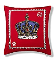 Crown Print Cushion