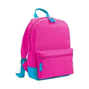 Bagbase Mini Student Backpack / Rucksack Bag (6.5 Litres) (One Size) (Fuchsia/Surf Blue)