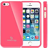 Caseology Apple iPhone 5 / 5S [Retro Flex Series] - Slim Fit TPU Protector Shock Absorbent Bumper Case (Hot Pink) [Made in Korea] (for Verizon, AT&T Sprint, T-mobile, Unlocked)