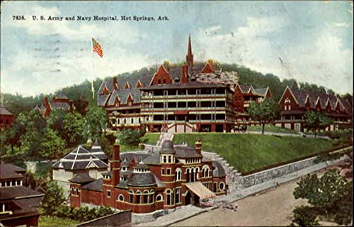 U.S. Army and Navy Hospital Hot Springs, Arkansas Original Vintage Postcard