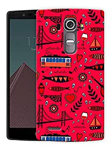 """Abstract City Life Pattern Printed Designer Mobile Back Cover For """"LG G4"""" By Humor Gang (3D, Matte Finish, Premium Quality, Protective Snap On Slim Hard Phone Case, Multi Color)"""