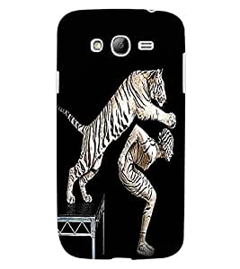 ColourCraft Man and Tiger Design Back Case Cover for SAMSUNG GALAXY GRAND NEO I9060