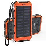 Solar Ladegerät 10000mAh Bovon® Duale USB Ports Regenbestädiges
