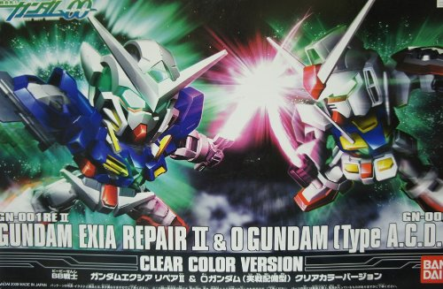 Gundam Exia Repair II & 0 Gundam (Type A.C.D) Clear Color Ver. SD