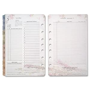 "FranklinCovey 2013 Blooms 2-Page-Per Day Planner Refill, Compact, 6-3/4"" x 4-1/4"""