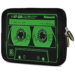 Amzer 5271077 7.75 Inch Neoprene Sleeve - Green Neon Cassette