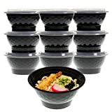 Freshware Meal Prep Containers [10 Pack] Bowls with Lids, Food Storage Bento Box | BPA Free | Stackable | Lunch Boxes, Microwave/Dishwasher/Freezer Safe, Portion Control, 21 day fix (42 oz)