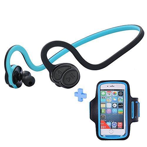 Magift Wireless Bluetooth Headphones CSR V4.0 AptX Sports Headset Sweatproof Earphone CVC6.0 Noise Canceling Hifi Earbuds HandsFree Headphone with Microphone Armband for Mobile Phone
