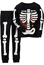 Carters Little Boys Glowing Skeleton Pajama Set
