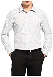 FX Jeans Co. Mens Formal Shirt (CH-05-42, Off-White, 42)