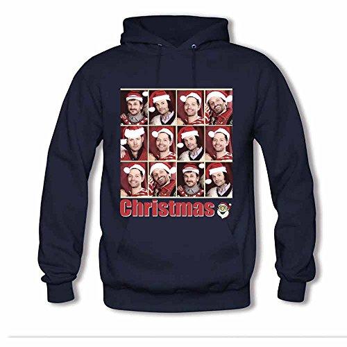 Supernatural Characters Christmas Theme Men's Hoodies XXL